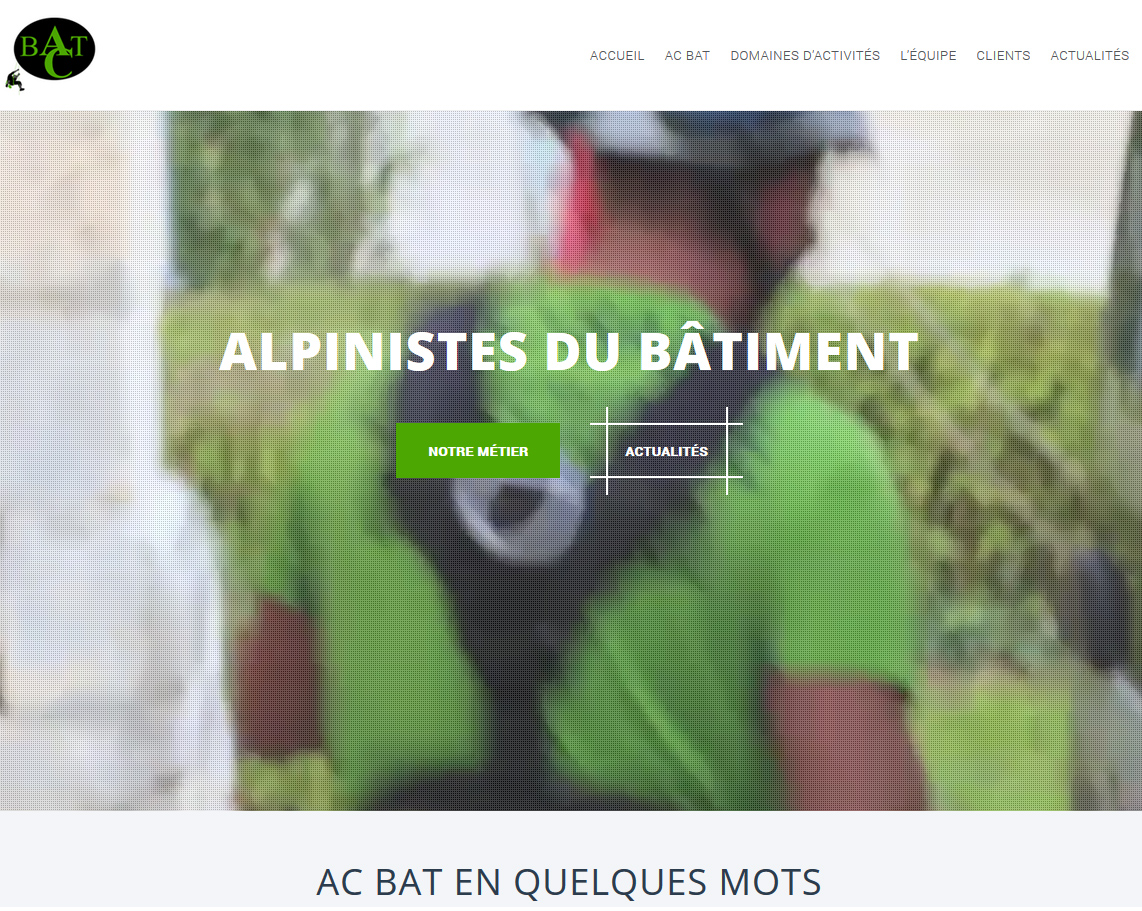 Homepage d'AC BAT